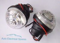 Lucas type L760 clear side / indicator lamp light unit x 2 for LAND ROVER / Mini