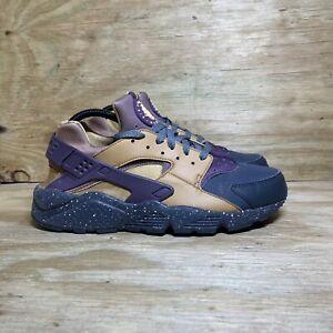 Nike Air Huarache Premium (704830-012) Shoes, Men's Size 10, Gold/Purple