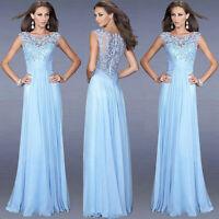 Chiffon Sommerkleid Abendkleid Ballkleid Partykleid Spitze Kleid  34-50 BC266
