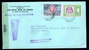 British Honduras - 1944 Censor Cover to USA - Postmarked June 6th 1944