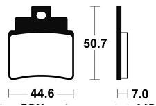 Plaquettes de frein Bendix MA275 Organique pour SYM