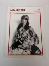Asta Nielsen - Fiche cinéma - Portraits de stars 13 cm x 18 cm