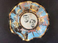 60s HOUZE Art Glass Dish Trinket John F & Robert Kennedy + Washington Monuments