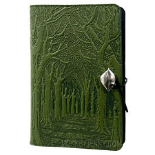 Avenue of Trees 6x9 Large Fern Green Handmade Leather Journal by Oberon Design