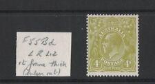1928 Australia KGV SG 102 4d yellow-olive Sm. multi Perf. 14 Mlh variety