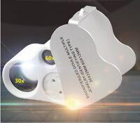 LED Magnifier 30X 60X Watch Jewelry Tool GF8517