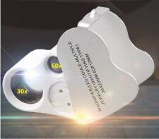 GF8517 LED Magnifier 30X 60X Watch Jewelry Tool