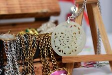 ,HAND CARVED  ICE JADE NECKLACE,  [20/6/2]