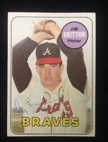 JIM BRITTON 1969 TOPPS Autographed Signed AUTO Baseball Card 154 BRAVES