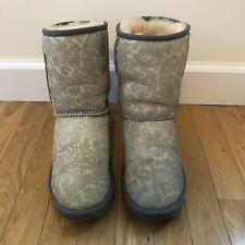 UGG Australia Classic Short Woman's Boots Sz 9 - Grey Paisley