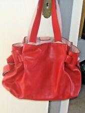 L.K. Bennett Geraldine Red Leather Tote