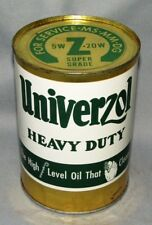 VINTAGE Univerzol Heavy Duty Motor Oil Can  Z SUPER GRADE OIL CAN