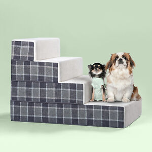 NEW Large Zinus Cozy Easy Pet Stairs Ramp Ladder Dog Cat Animal Steps
