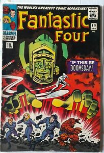 MARVEL COMICS FANTASTIC FOUR #49 VG/FN (APR 1966) 1st galactus cover