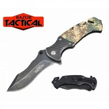 Razor Tactical Stone Wash & Digital Camo Assisted Opening Knife - FAST SHIPPING