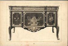 Stampa antica MOBILE CINESE DECORATO CINA CHINA 1920 Old Antique print T. 67