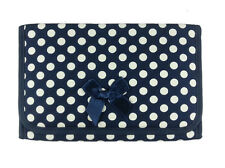 NARAYA COSMETIC BAG WITH MIRROR AND MAKEUP BLUE DOT WHITE NB-60/L CP50