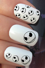 HALLOWEEN NAIL ART SET #671 x12 JACK SKELLINGTON WATER TRANSFER DECALS STICKERS