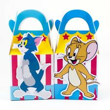 6x Tom And Jerry Lolly Loot Bag Box. Party Supplies Bunting Cake Banner Flag