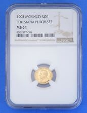 1903 McKinley Gold Dollar NGC MS64 Louisiana Purchase Exposition St. Louis