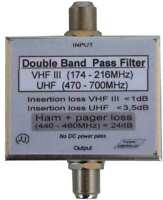 VHF-UHF band-pass filter 174-214 + 470-700MHz special , it limits Ham and Pagers