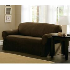 Maytex Faux Suede Lovseat Slipcover, Chocolate