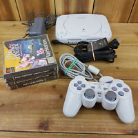 Sony Playstation 1 PSOne Console Bundle *Read* 3 Games Controller Leads Full Set