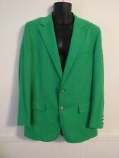 Rare Vtg Lilly Pulitzer Green Mens Stuff Palm Beach Lilly Lion Coin Jacket