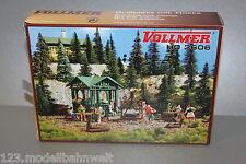 Vollmer 3606 Bausatz Grillplatz mit Hütte Spur H0 OVP