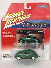 Johnny Lightning 64 1964 VW Volkswagen Beetle Green with Flames Die Cast 1/64