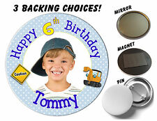 Metal Birthday, Adult Party Badges & Pins Less than 10