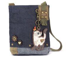 Chala Purse Handbag Denim Canvas Crossbody With Key Chain Tote  Skinny Cat Kitty