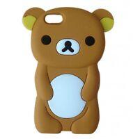 Cute 3D Rilakkuma Brown Teddy Bear Case Cover For iPhone SE 4 4s 5 5s 5c 6 6s +