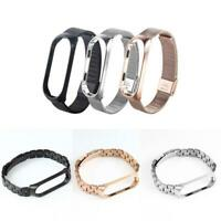 Wrist Band Bracelet Smart Watch Strap for Xiaomi Mi Band 3/4 Stainless Steel
