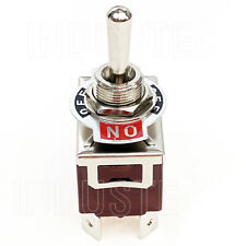 """1XWR7 ON/OFF/ON DPDT 6 1/4"""" 6 Pin Toggle Switch 250V 15A  KN3C-203 Maintained"""