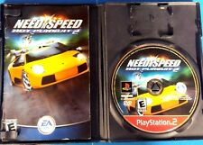 Need for Speed: Hot Pursuit 2 (Sony PlayStation 2, 2002) Case, manual & game