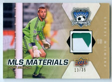 """JON BUSCH """"2 COLOR PATCH CARD #13/35"""" UD MLS SOCCER 2012"""