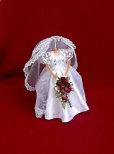 "DOLLS HOUSE BRIDAL SHOP -  ""TIFFANY"" -  MINIATURE WEDDING DRESS"