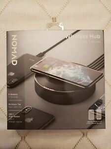 Nomad Wireless Charging Hub - 5 Outputs - 7.5W Wireless Top - New