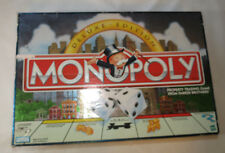 Monopoly Deluxe Edition Parker Brothers box has damage board game Pre Owned