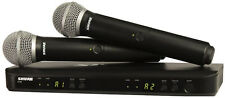 NEW Shure BLX288/PG58 Professional Dual Handheld Wireless Microphone Mic System
