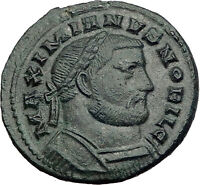 GALERIUS 303AD RARE Follis of LONDINIUM London Mint Ancient Roman Coin i63985