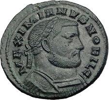 GALERIUS 303AD RARE Follis of LONDINIUM London Mint Ancient Roman Coin i63985