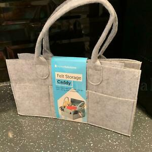 Grey Felt Caddy Storage Box  Nursery Bag Car Boot Foldable Portable Organizer