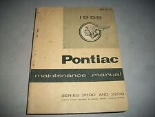 1955 CANADIAN PONTIAC 2000 2200 MAINTENANCE SHOP MANUAL ALSO USED FOR 1956
