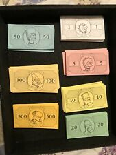 SET OF SIMPSONS MONOPOLY CASH MONEY ONLY