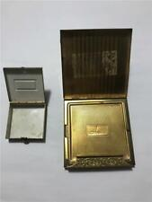 Vintage Makeup Pill Box Cigarette Money Brass Compact Smoking Mini Storage Cases