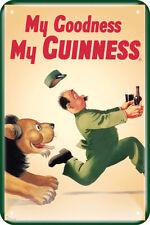 Guinness Metal Sign-Lion