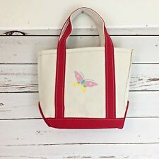 LL Bean Small Boat and Tote Limited Edition Butterfly L4