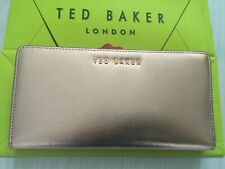 Ted Baker Ladies Rose Gold Leather Matinee Purse RRP £80 Gift Bag Mother Day New